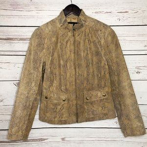 Alfani Leather Snakeskin Jacket